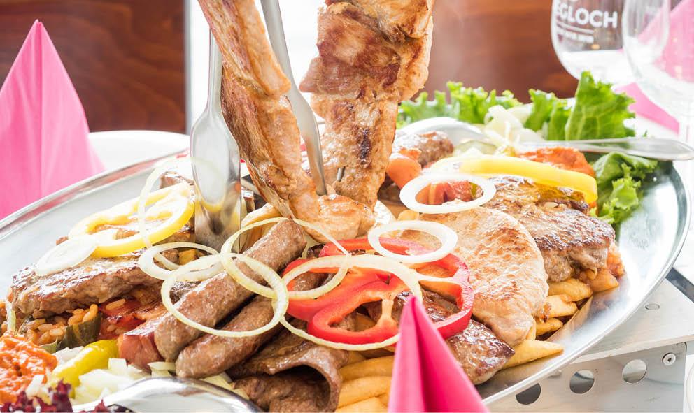 Balkanplatte Spezialität des Hauses Gaststätte Talaue in Birkmannsweiler